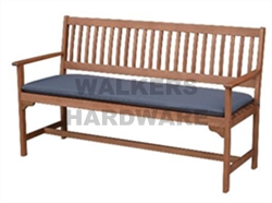 BENCH TIMBER WITH CUSHION FALLON