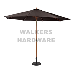 UMBRELLA MARKET TIMBER 2.95M CHARCOAL