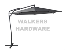 UMBRELLA CHARCOAL CANTILEVER STEEL 2.85M