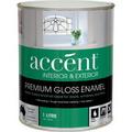 ACCENT GLOSS ENAMEL INT & EXT WHITE 1L