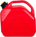 JERRY CAN 10LT RED PLASTIC WITH NOZZLE