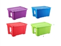 BOX STORAGE WITH LID ASSORTED COLOURS 32L